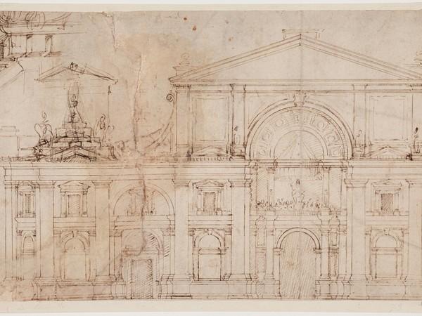 (Antonio da Sangallo il Giovane, Studi per la facciata e l'emiciclo meridionale della Basilica di San Pietro)