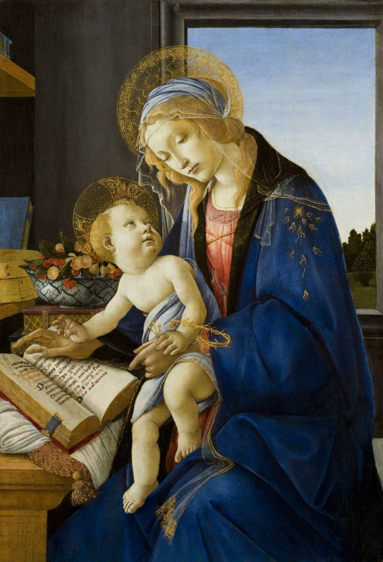 (Sandro Botticelli, Madonna con Bambino o Madonna del libro)