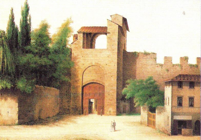 View_of_Ancient_Florence_by_Fabio_Borbottoni_1820-1902_(47)-PORTA A PINTI